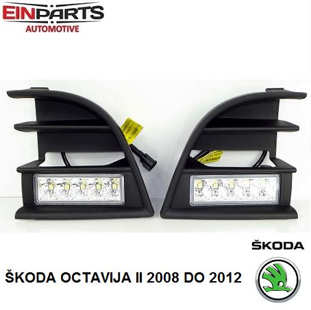 dnevne_led_luči_škoda_octavija_II_2008_2012