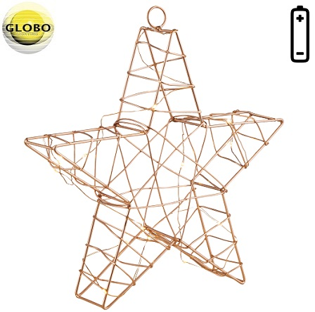 novoletna božična baterijska viseča led zvezda