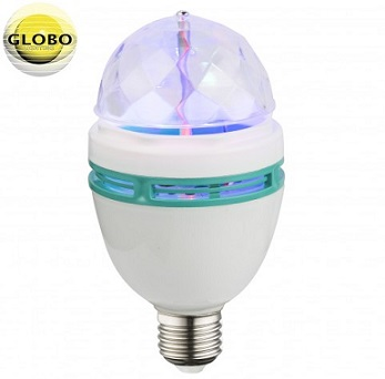 rgb led disko žarnica z rotacijo