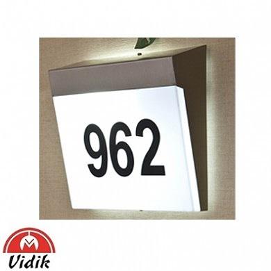 zunnanja stenska svetilka s hišno številko