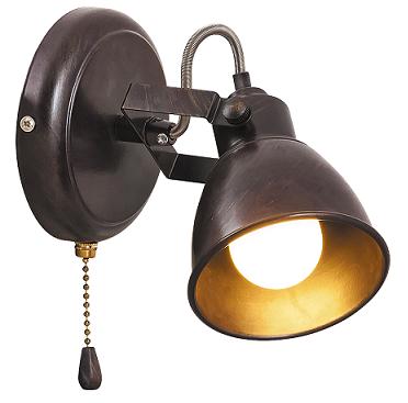 stenska-retro-vintage-starinska-bralna-spot-svetilka-za-spalnico-s-poteznim-stikalom-na-verižico-antik-rjava