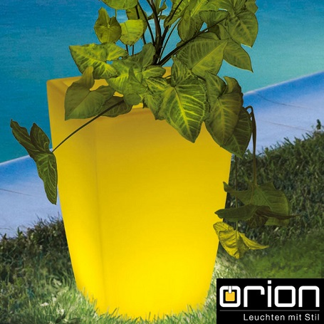 VRTNA AKUMULATORSKA RGB SVETILKA LED FLOWER POT 300X300 mm IP54