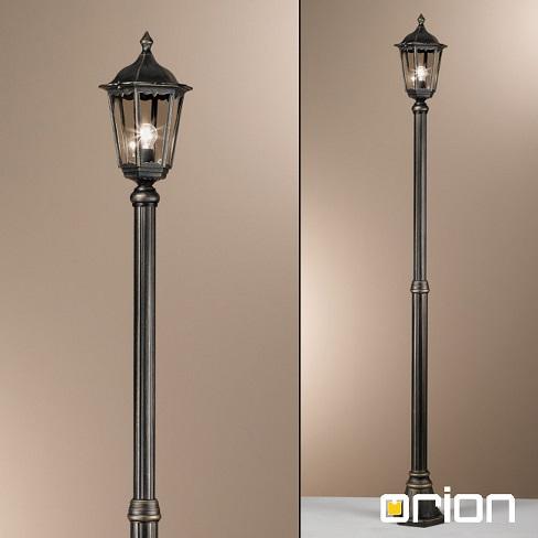 klasična-ulična-svetilka-steber-višine-2-metra-orion-antik-črni-zlati