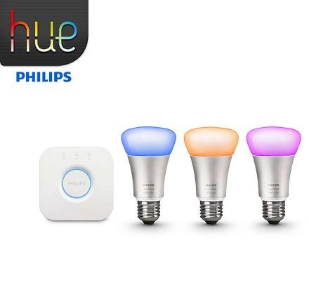 philips hue starter set 3xe27 10w 2200k do 6500k rgb most. Black Bedroom Furniture Sets. Home Design Ideas