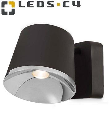 stenska-dizajnerska-svetilka-reflektor-črni-krom