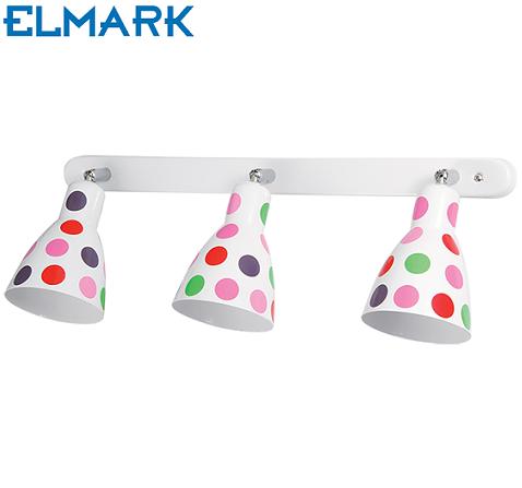 trojna-otroška-spot-svetilka-s-pikami-reflektor-e27-otroški-reflektorčki