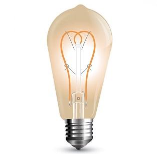 FILAMENTNA LED SIJALKA E27 5W AMBER TOPLO BELA 2200K