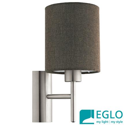 stenske-svetilke-s-tekstilnimi-senčniki-eglo-rjave