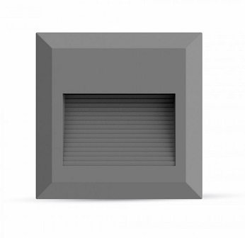 zunanja-nadometna-nadgradna-led-svetilka-za-stopnice-škarpe-fasade-ograje-z-navzdol-usmerjenim-snopom-2w-ip65-siva-kvadratna