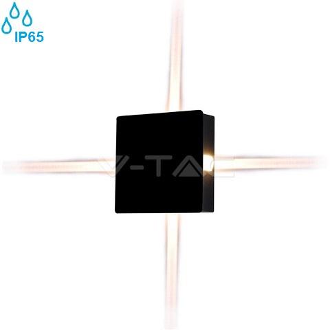 zunanja-stenska-ambientalna-led-svetilka-štirje-snopi-kvadratna-ip65-črna