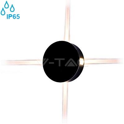 zunanja-stenska-ambientalna-led-svetilka-štirje-snopi-okrogla-ip65-črna