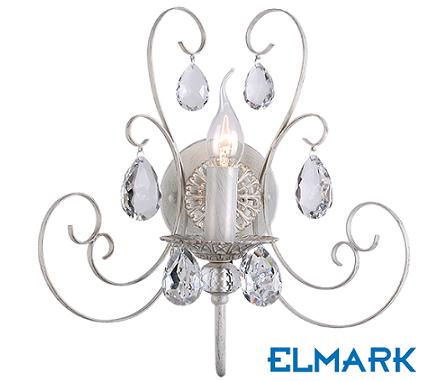 klasična-kristalna-svetilka-stenska-elmark-2xe14