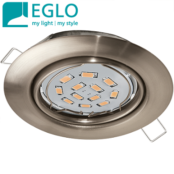vgradne-stropne-led-svetilke-gu10-eglo-220v-ohišje-brušen-nikelj