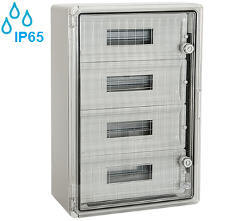 zunanje-nadometne-plastične-samogasilne-razdelilne-elektro-omarice-ip65-transparentna-vrata-štiriredne-štirivrstne-šestdeset-modulov
