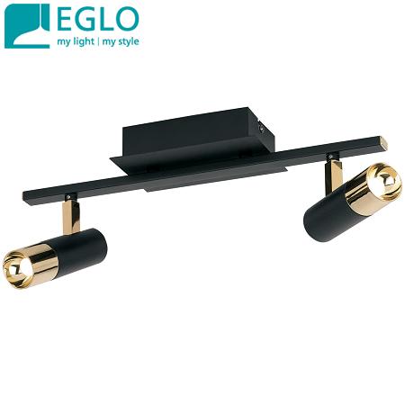 dvojni-led-reflektor-eglo-črni-medenina