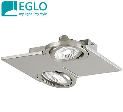 dvojni-stropni-led-spot-reflektor-eglo-svetila-brušen-nikelj