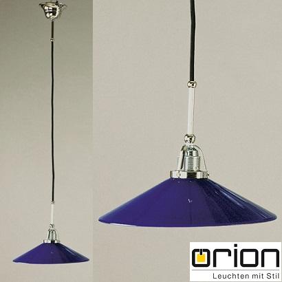 viseči-klasični-lestenec-kihinjski-orion-svetila-graz-modro-kobalt-steklo