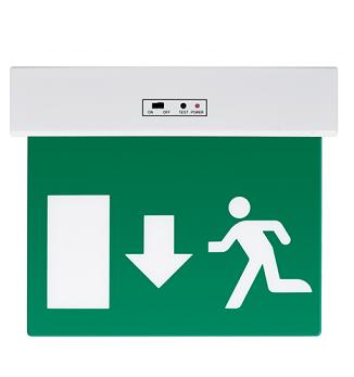 zasilna-varnostna-led-svetilka-razsvetljava-puščica-dol-izhod