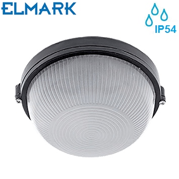 zunanja-stenska-stropna-svetilka-s-stopnjo-zaščite-ip54-črna-okrogla