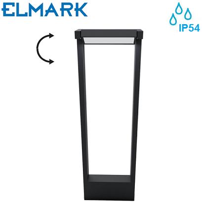 zunanji-vrtni-led-stebriček-elmark-z-nastavljivim-kotom-ip54