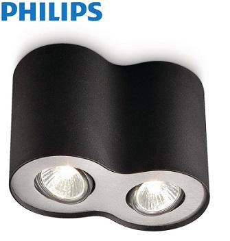 dvojni-nadgradni-stropni-spot-reflektor-philips-gu10-črni