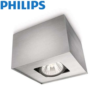 nadgradna-stropna-reflektorska-spot-svetilka-philips-gu10-aluminij-siva