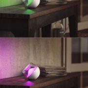 AKUMULATORSKA NAMIZNA USB RGB LED SVETILKA BERRY 3W