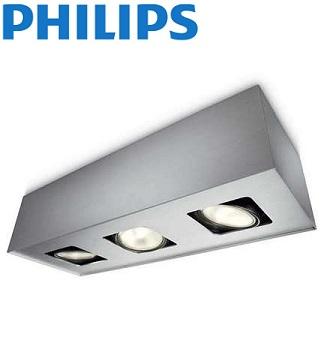 trojna-nadgradna-stropna-reflektorska-spot-svetilka-philips-gu10-aluminij-siva
