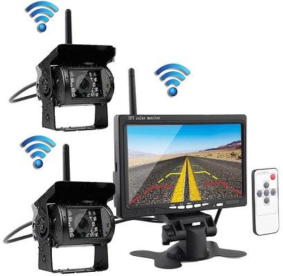 brezžična-wi-fi-vzvratna-parkirna-dvojna-kamera-lcd-zaslon-7-inch
