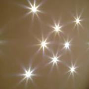 LED SVETILKA CRYSTAL EFEKT-ZVEZDNO NEBO fi 215 mm 8W 4000K ALI 6400K