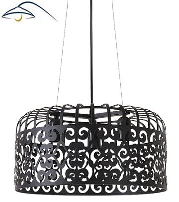 retro-vintage-viseča-svetilka-lestenec-luster-črni