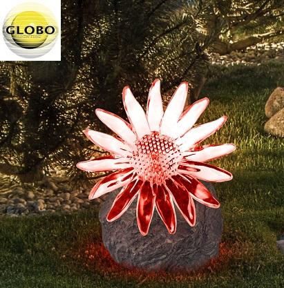 solarna-vrtna-led-svetilka-roža-na-kamnu