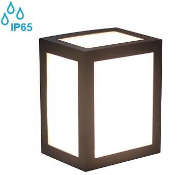 zunanja-stenska-vrtna-fasadna-led-svetila-ip65-kvadratna-kocka-črna
