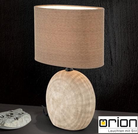 keramična-namizna-svetilka-s-tekstilnim-senčnikom-rjava