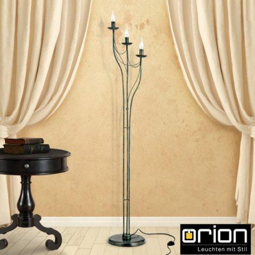 klasična-stoječa-svetilka-antik-rjava