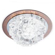 KRISTALNA VGRADNA LED SVETILKA ICE fi 120 mm 5W 3000K V DVEH BARVAH