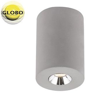 enojni-stropni-reflektor-iz-betona-gu10-okrogli-sivi