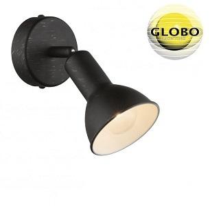 retro-vintage-reflektor-globo-črni-zlati