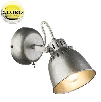 retro-vintage-spot-reflektor-enojni-globo-antik-srebrni