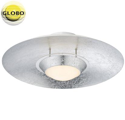 stropna-kovinska-led-plafonjera-svetilke-luč-srebrna