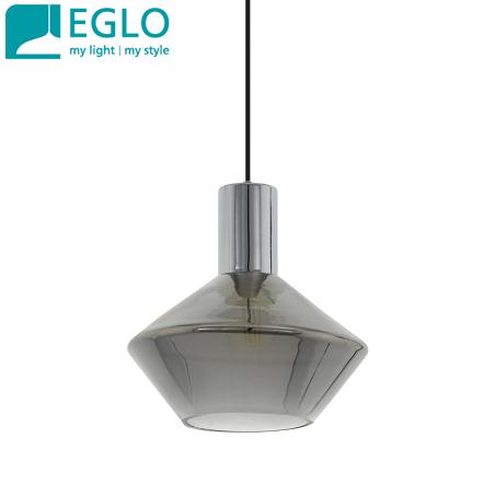 viseča-svetilka-dimljeno-steklo-črno-retro-vintage-eglo