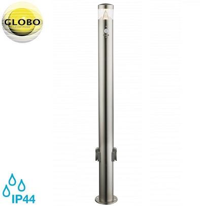 vrtni-senzorski-inox-stebriček-z-dvema-vtičnicama-ip44