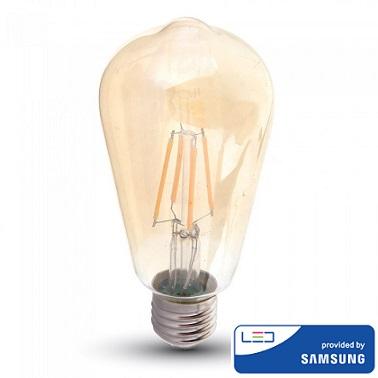 edison-retro-vintage-filamentna-sijalka-e27-žarnica-amber-jantarno-steklo-2200k-6W-samsung-diode-oblika-hruška