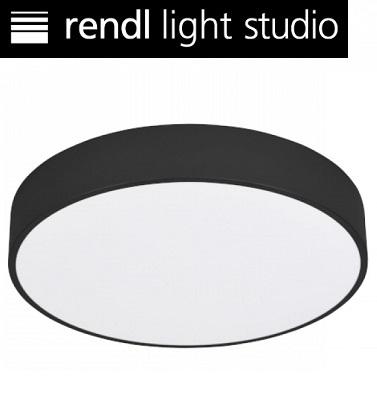 stropna-led-okrogla-svetilka-črna