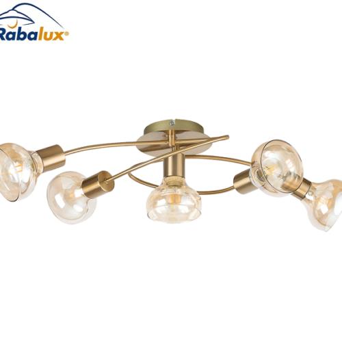 stropna-retro-vinttage-svetilka-krom-antik-zlata-jantarno-steklo