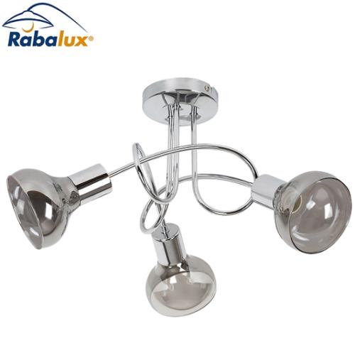 stropna-retro-vinttage-svetilka-krom-dimljeno-steklo-3xe14