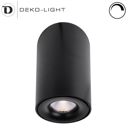 zatemnilni-stropni-led-reflektor-nadgradni-okrogli-črni