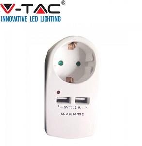 adapter-z-usb-vhodom-šuko-vtičnico