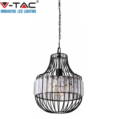 viseča-kristalna-retro-vintage-svetilka-lestenec-fi-300-mm-črna