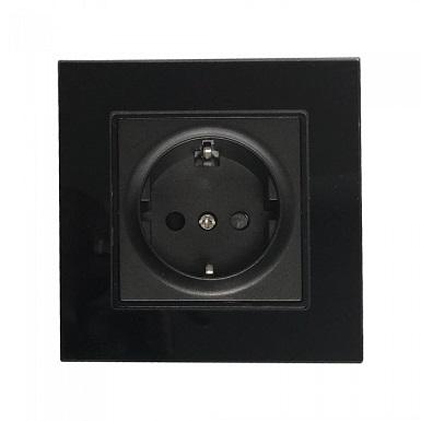 vtičnice-s-steklenim-okvirjem-črne
